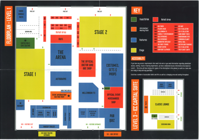 Doctor Who Official 50th Celebration  Floor plan